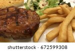 Beef Steak Served With French...