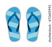 blue flip flops on the white... | Shutterstock .eps vector #672605992