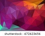 purple colorful gradient... | Shutterstock . vector #672623656