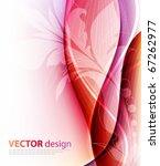 elegant floral design | Shutterstock .eps vector #67262977