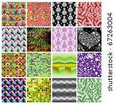 seamless wallpaper set | Shutterstock .eps vector #67263004