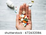 colorful pills and medicines in