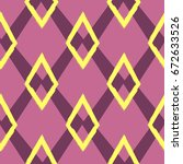 colored seamless geometric... | Shutterstock .eps vector #672633526