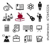 school teaching icon concept.... | Shutterstock .eps vector #672642226