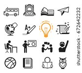 basic going to school icon.... | Shutterstock .eps vector #672642232