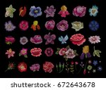 large floral collection. set... | Shutterstock .eps vector #672643678