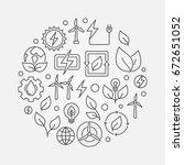 renewable energy sources...   Shutterstock .eps vector #672651052