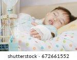 soft focus saline intravenous ... | Shutterstock . vector #672661552