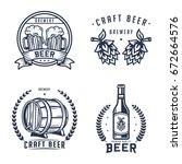 set of beer logo  badge  label... | Shutterstock .eps vector #672664576