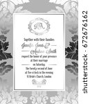 vintage baroque style wedding... | Shutterstock .eps vector #672676162