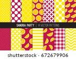 sangria party vector patterns... | Shutterstock .eps vector #672679906