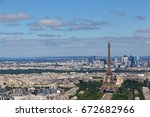 cityscape of paris at summer day | Shutterstock . vector #672682966