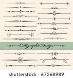 calligraphic design elements... | Shutterstock .eps vector #67268989