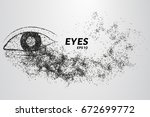 eyes of particles. silhouette... | Shutterstock .eps vector #672699772
