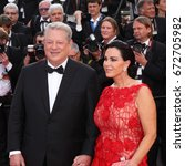 Small photo of CANNES - MAY 22, 2017: Al Gore and Elizabeth Keadle attend The Killing Of A Sacred Deer screening during the 70th annual Cannes Film Festival at Palais des Festivals in Cannes