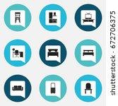 set of 9 editable furnishings...