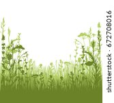 silhouette meadow grass and... | Shutterstock .eps vector #672708016
