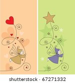greeting card with elves ...   Shutterstock .eps vector #67271332