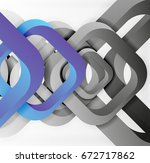 square vector background  3d... | Shutterstock .eps vector #672717862