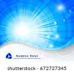 abstract blue background | Shutterstock .eps vector #672727345