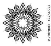 beautiful mandala pattern.... | Shutterstock .eps vector #672727738