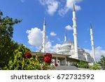 kocatepe mosque in ankara ... | Shutterstock . vector #672732592