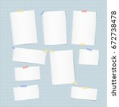 white note  notebook  copybook... | Shutterstock .eps vector #672738478