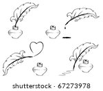 pen and inkwell. | Shutterstock .eps vector #67273978
