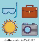 travel time design | Shutterstock .eps vector #672743122