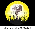 townscape with explosion... | Shutterstock .eps vector #67274449