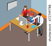 startup business team in modern ...   Shutterstock .eps vector #672749788