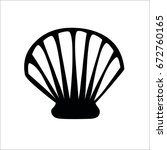 shell icon | Shutterstock . vector #672760165