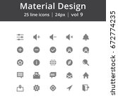 simple material design icons ...