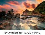 for lovers of landscape... | Shutterstock . vector #672774442