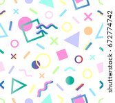 seamless pattern.pattern with...   Shutterstock .eps vector #672774742