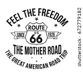 route 66 typography for t shirt ... | Shutterstock .eps vector #672779182