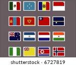 stamp flag08   Shutterstock .eps vector #6727819