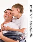 dad playing with his son on a... | Shutterstock . vector #67278193