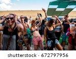 barcelona   jun 16  people... | Shutterstock . vector #672797956