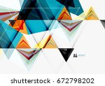 triangular low poly vector a4... | Shutterstock .eps vector #672798202