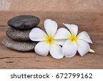 Plumeria And Stones Isolated O...