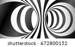 circles surface optical... | Shutterstock . vector #672800152