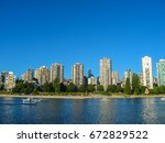 vancouver in british columbia ... | Shutterstock . vector #672829522