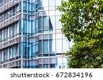 detail shot of modern... | Shutterstock . vector #672834196