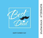 greeting card for father's day | Shutterstock .eps vector #672836656