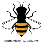 honey bee | Shutterstock .eps vector #672837895