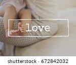 family parentage home love... | Shutterstock . vector #672842032