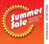 summer sale advertisement ...   Shutterstock . vector #672872962