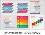 bundle infographic elements | Shutterstock .eps vector #672878422