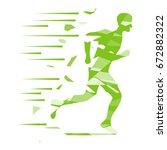 running man  the logo of a... | Shutterstock .eps vector #672882322